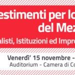 """Il Presidente BCC Palladino relatore al convegno su """"Investimenti per lo Sviluppo del Mezzogiorno"""""""